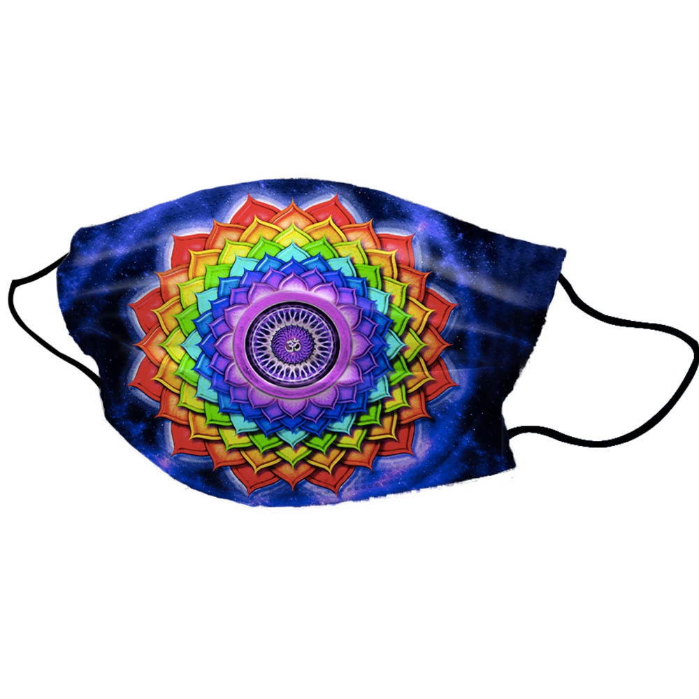 Blue Rainbow Unisex Cotton Face Mask