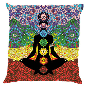 Multicolour Screenprint Cotton 16″ × 16″ Pillow