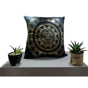 Golden Fluorescent Cotton 16″ × 16″ Pillow