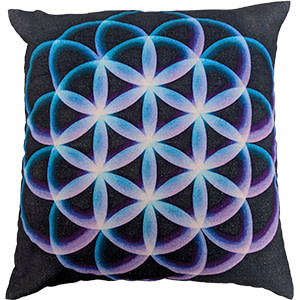 Circle Multicolour Digital Cotton 16″ × 16″ Pillow