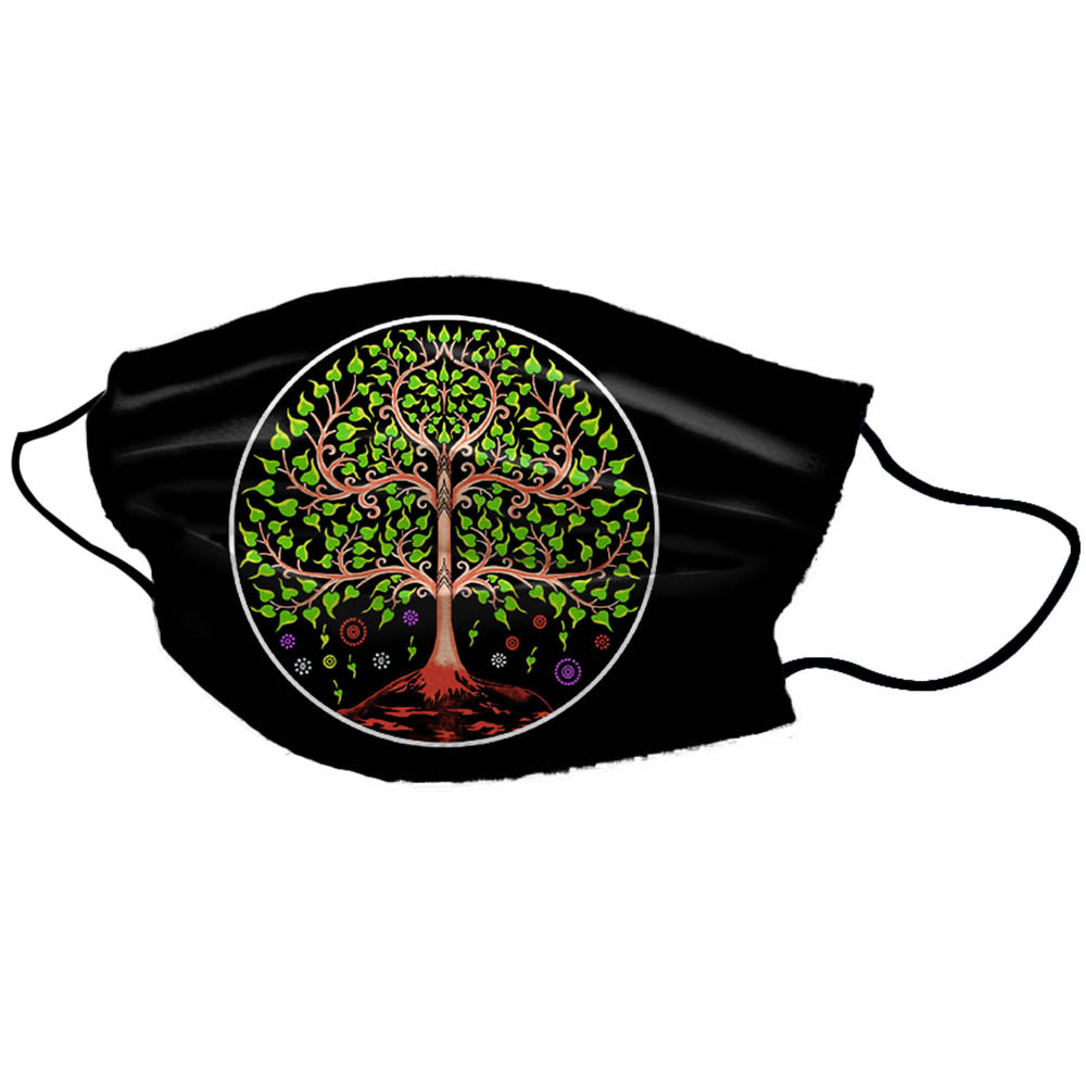 Black Tree Unisex Cotton Face Mask