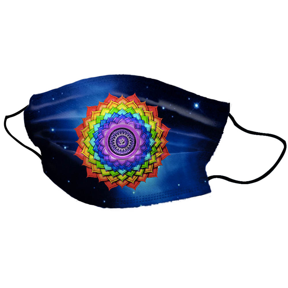 Half Blue Rainbow Unisex Cotton Face Mask