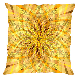 Yellow Digital Cotton 16″ × 16″ Pillow