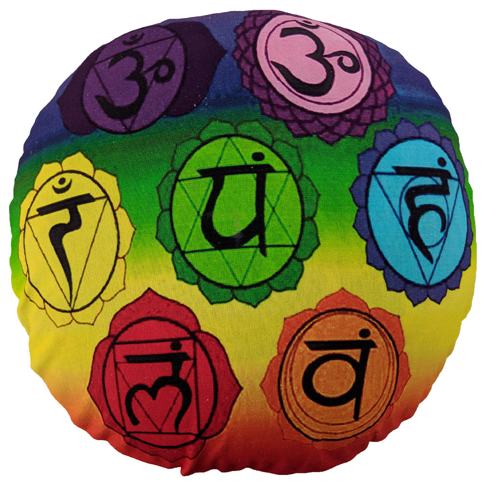 Multicolour Chakra Digital Cotton Meditation Cushion
