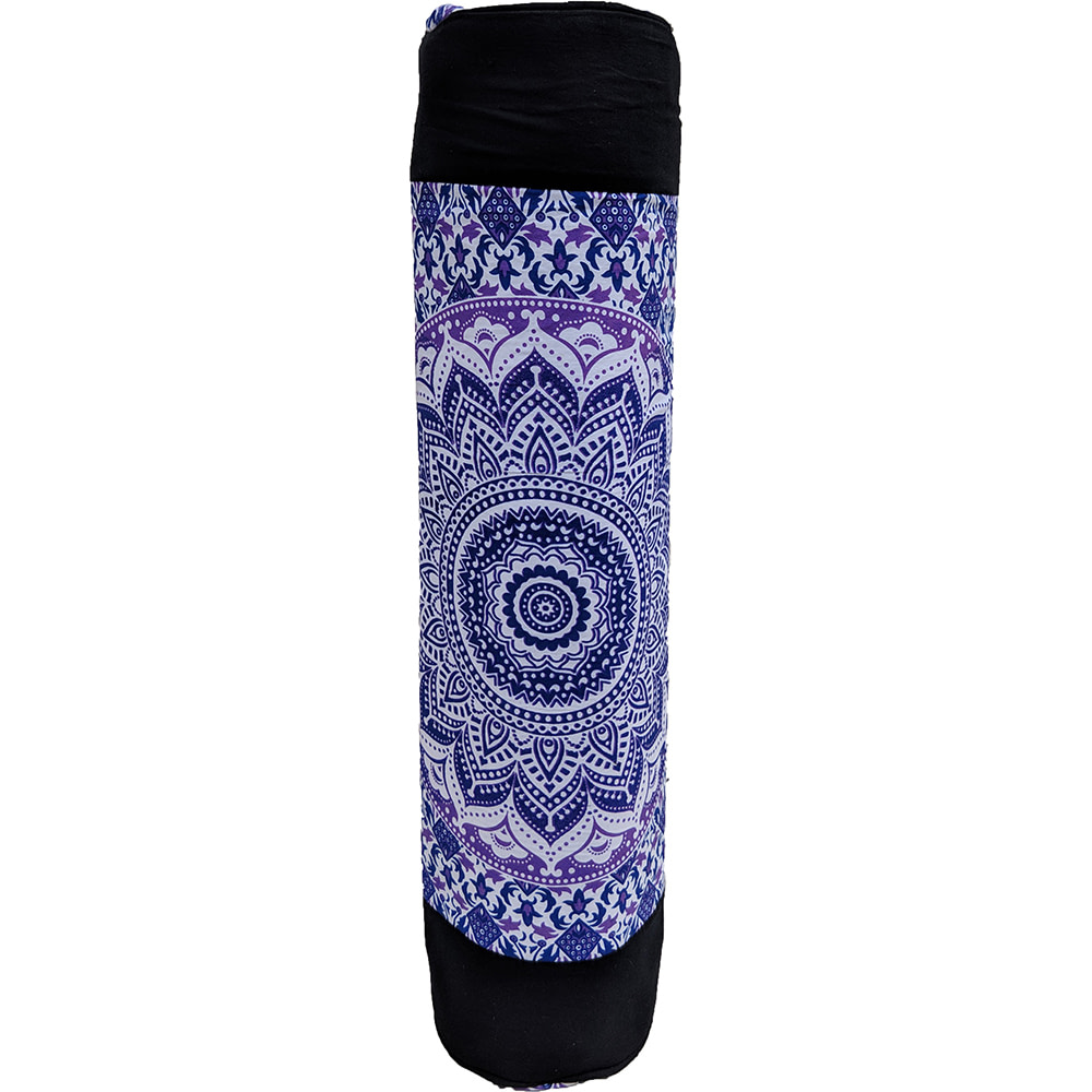 Ombre Purple Duffle Yoga Mat Bag Cotton Screen Printed
