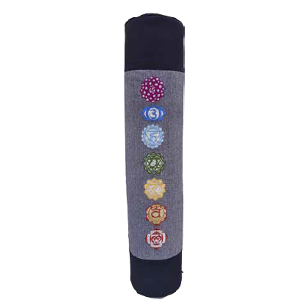 Multi Color Yoga Chakra Duffle Yoga Mat Bag Cotton Ari Embrodery