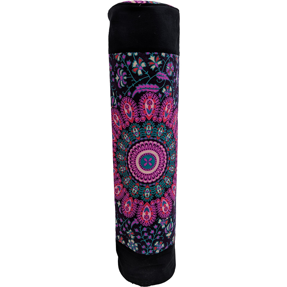 Purple Mandala Duffle Yoga Mat Bag Cotton Screen Printed