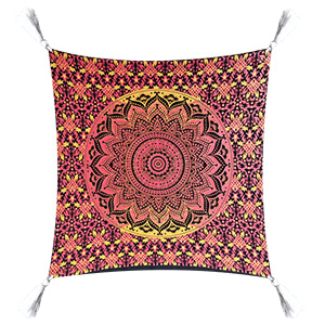 Red Yellow Fluorescent  Cotton 16″ × 16″ Pillow