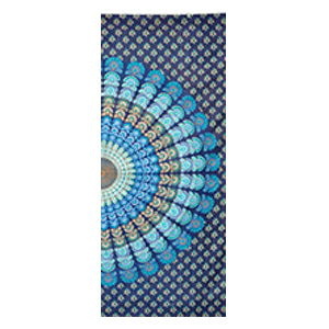 Blue Mandala Screen Print Cotton 9 mm Yoga Mat