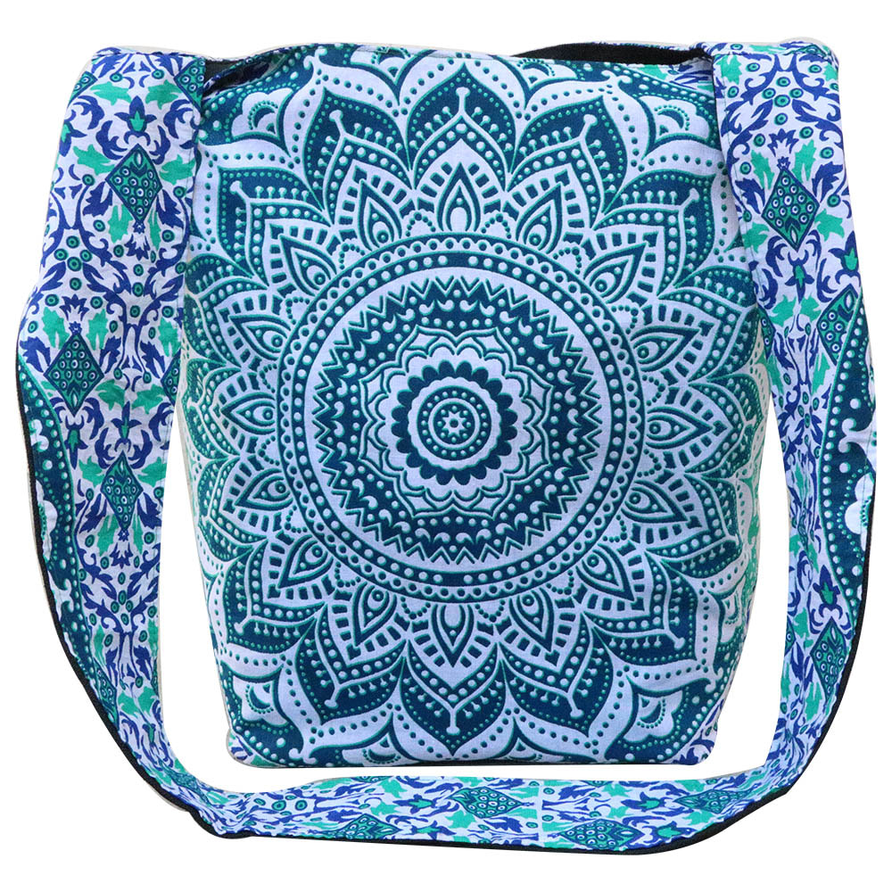 Green Ombre Cotton Tote Bag Screen Printed