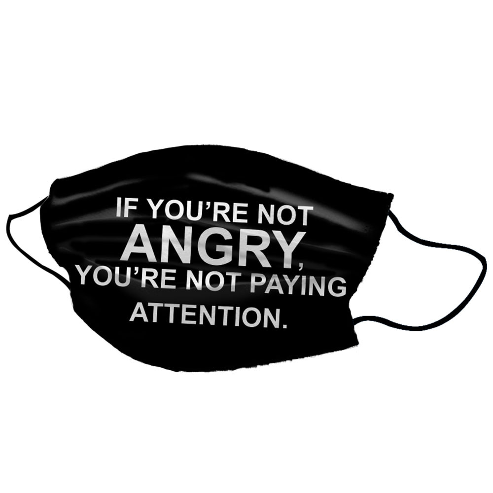 Angry BLM Black Cotton Face Unisex Mask