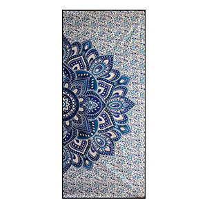 Blue Lotus Ombre Screen Printed Cotton 9 mm Yoga Mat