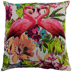 Flamingo Digital Cotton 16″ × 16″ Pillow