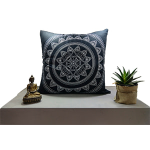 Silver Fluorescent Cotton 16″ × 16″ Pillow