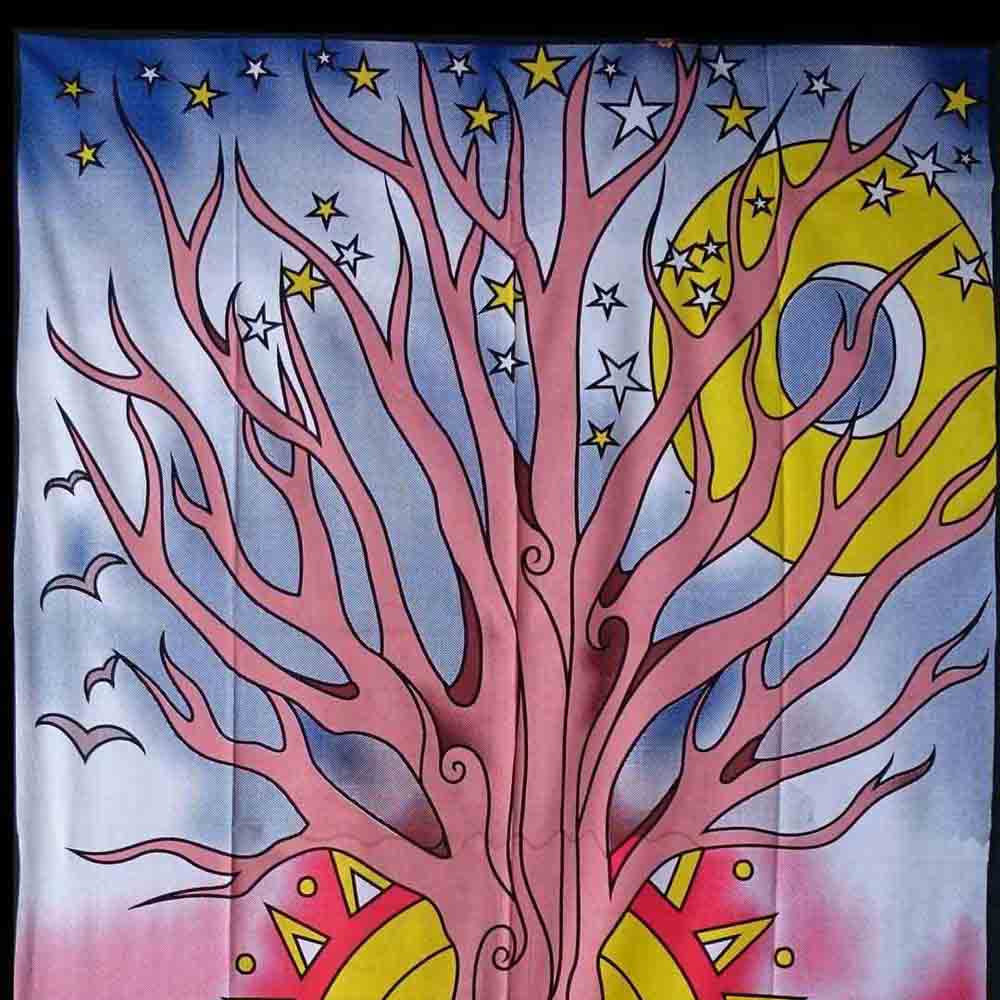 Kashi Tree Multi Color Queen Twin Tapestry