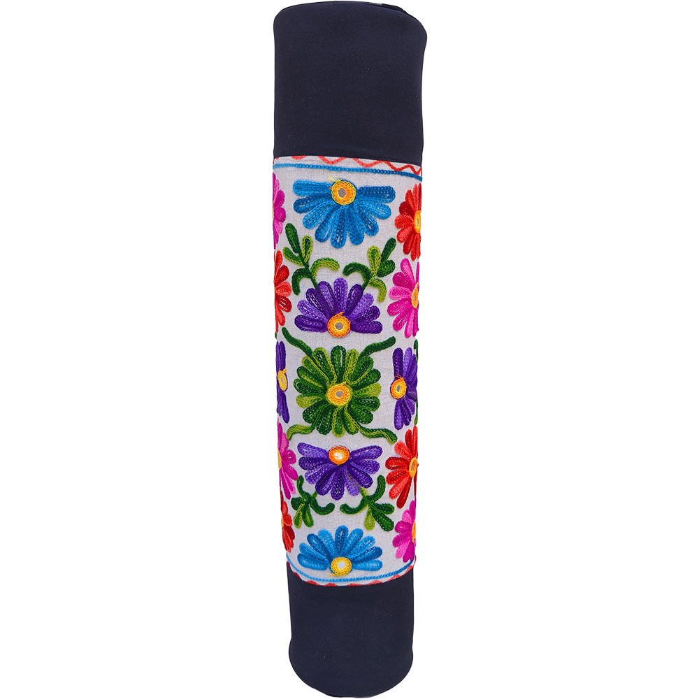 Multi Color Flower Duffle Yoga Mat Bag Cotton Ari Embrodery
