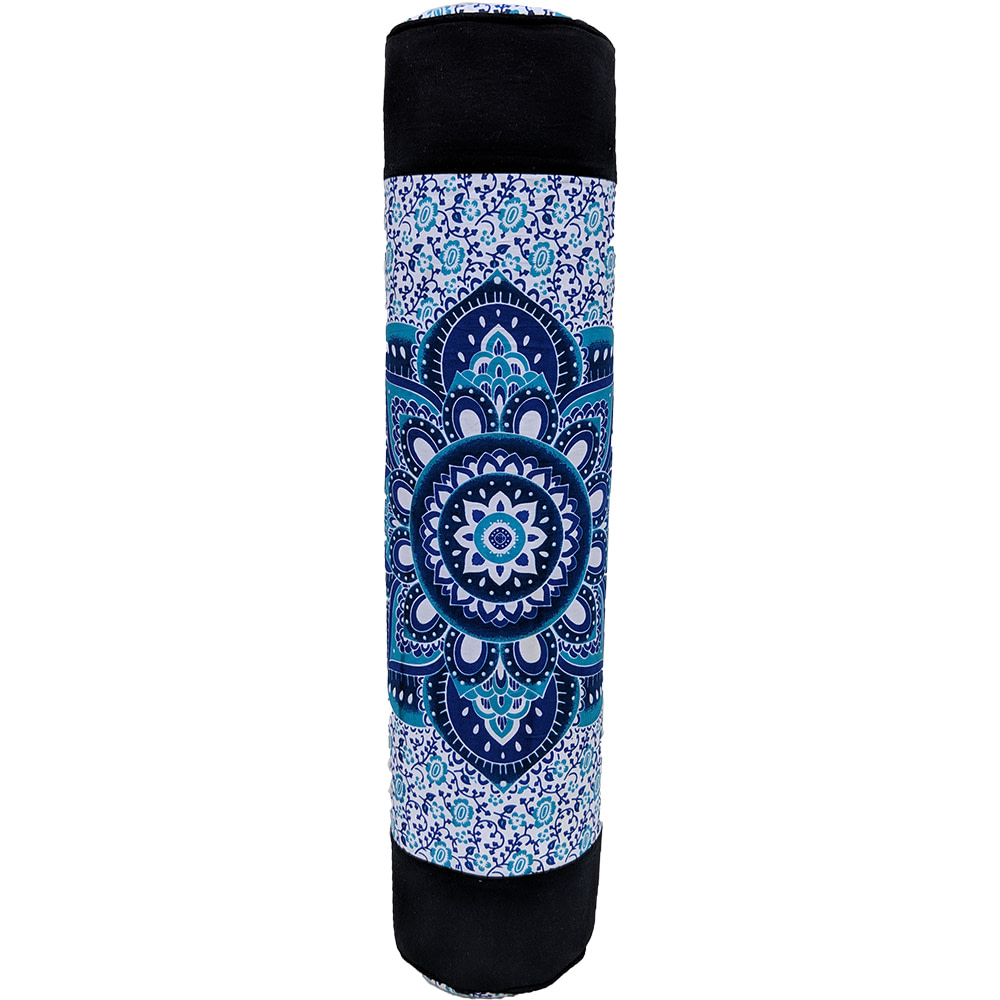 Ombre Lotus Blue Duffle Yoga Mat Bag Cotton Screen Printed