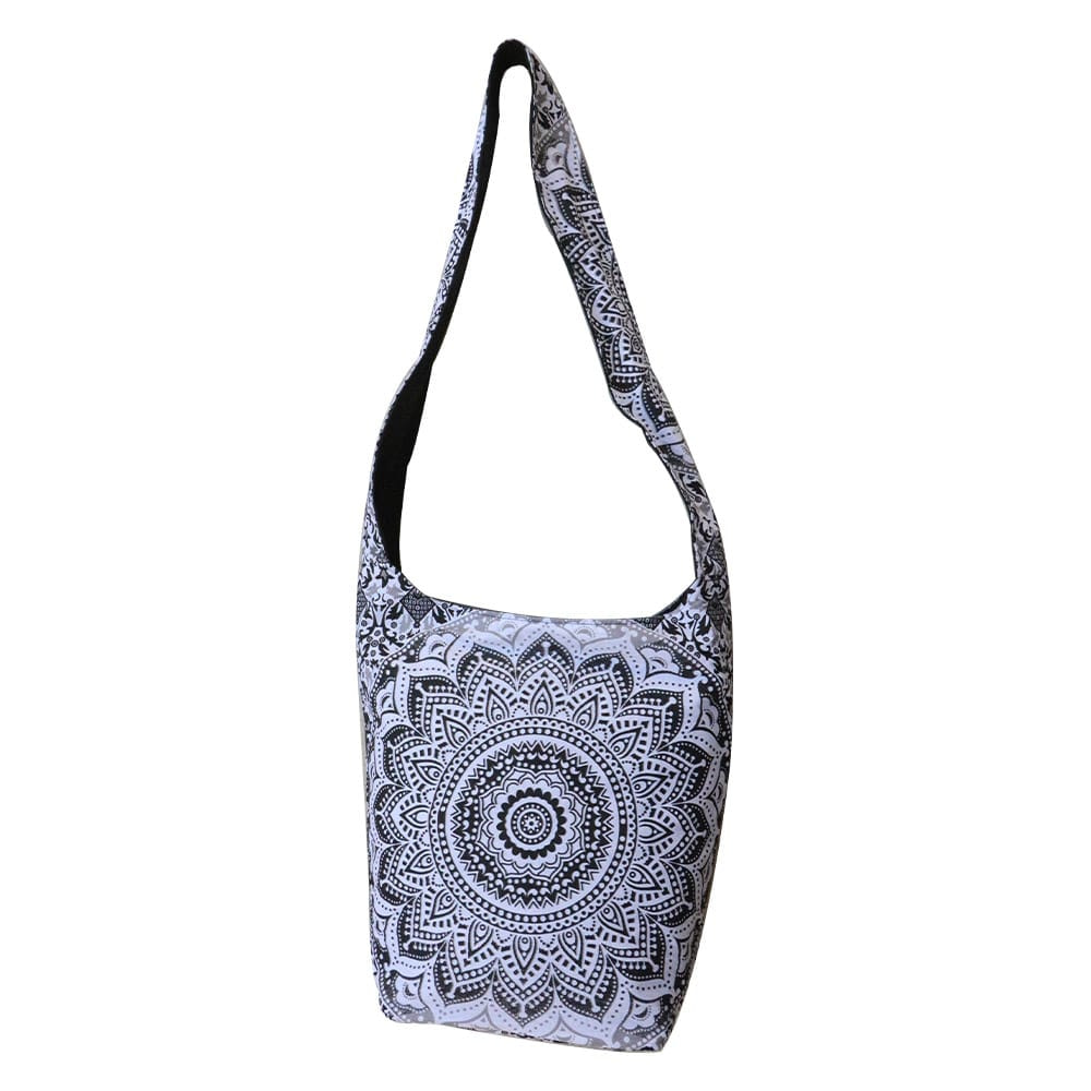 Gray Ombre Cotton Tote Bag Screen Printed