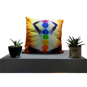 Digital Multicolour Cotton 16″ × 16″ Meditation Pillow