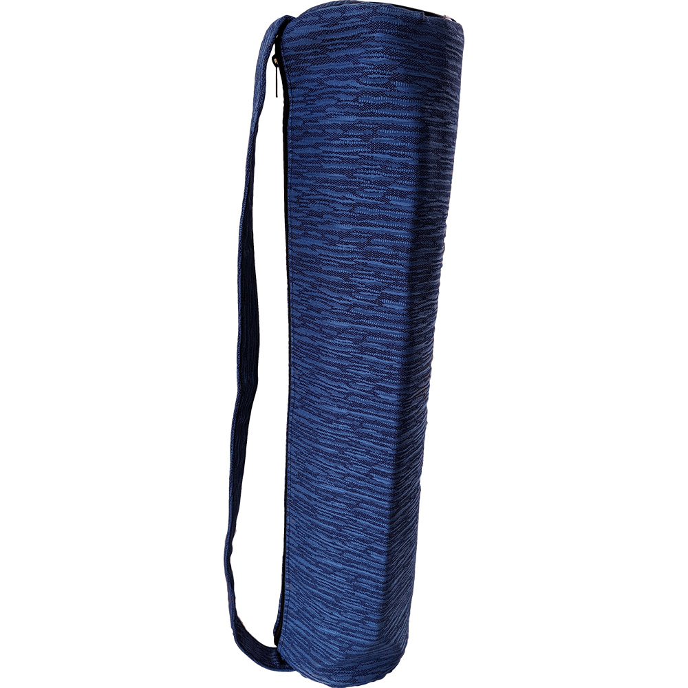 Blue Duffle Yoga Mat Bag Jacquard Fabric