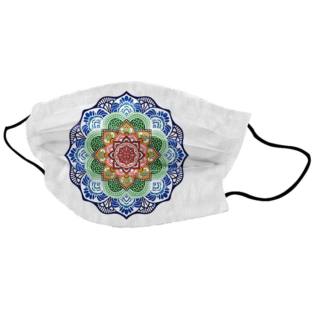 White Chakra Lotus Unisex Cotton Face Mask