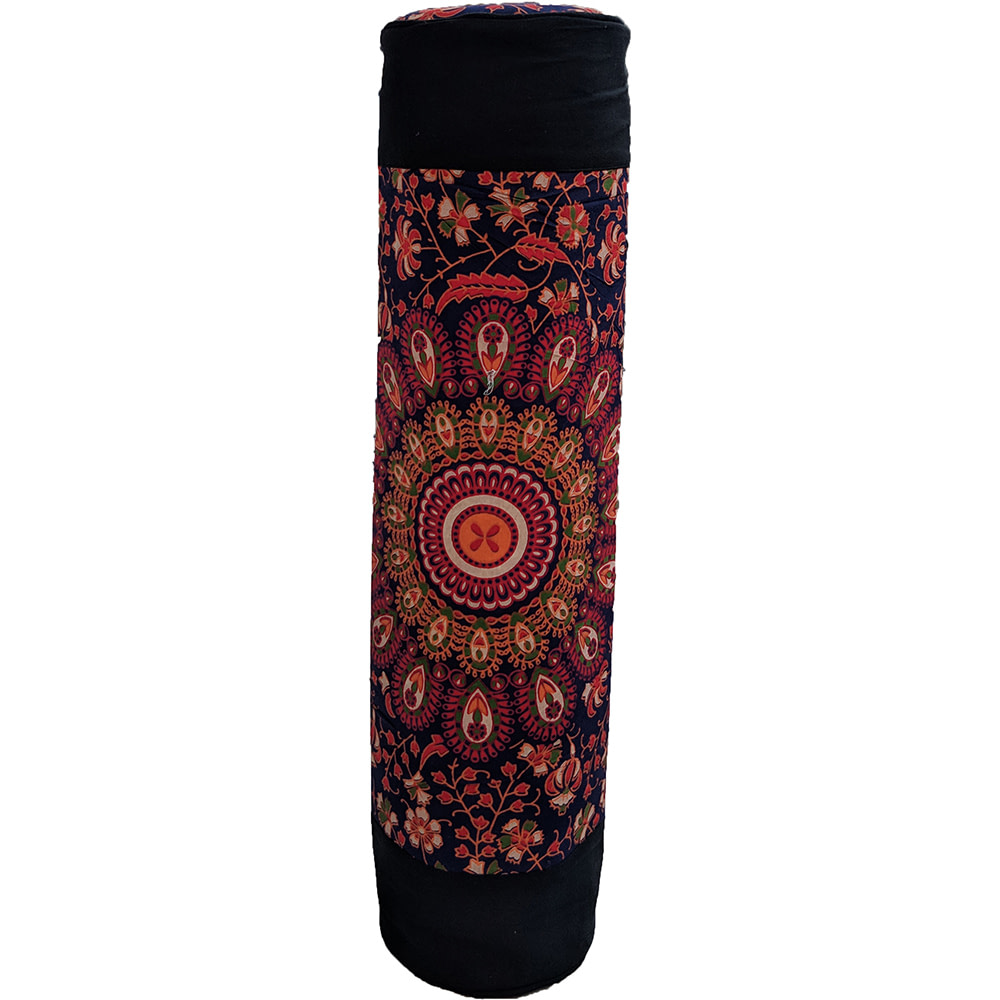 Salt Red Mandala Duffle Yoga Mat Bag Cotton Screen Printed
