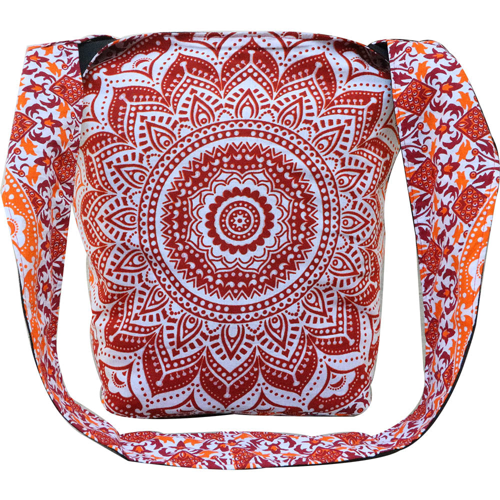 Ombre Indian Handicrafts Traditional Ethnic Hippie Sadu bag, College Cotton Bag, Sadhu Monk Bag