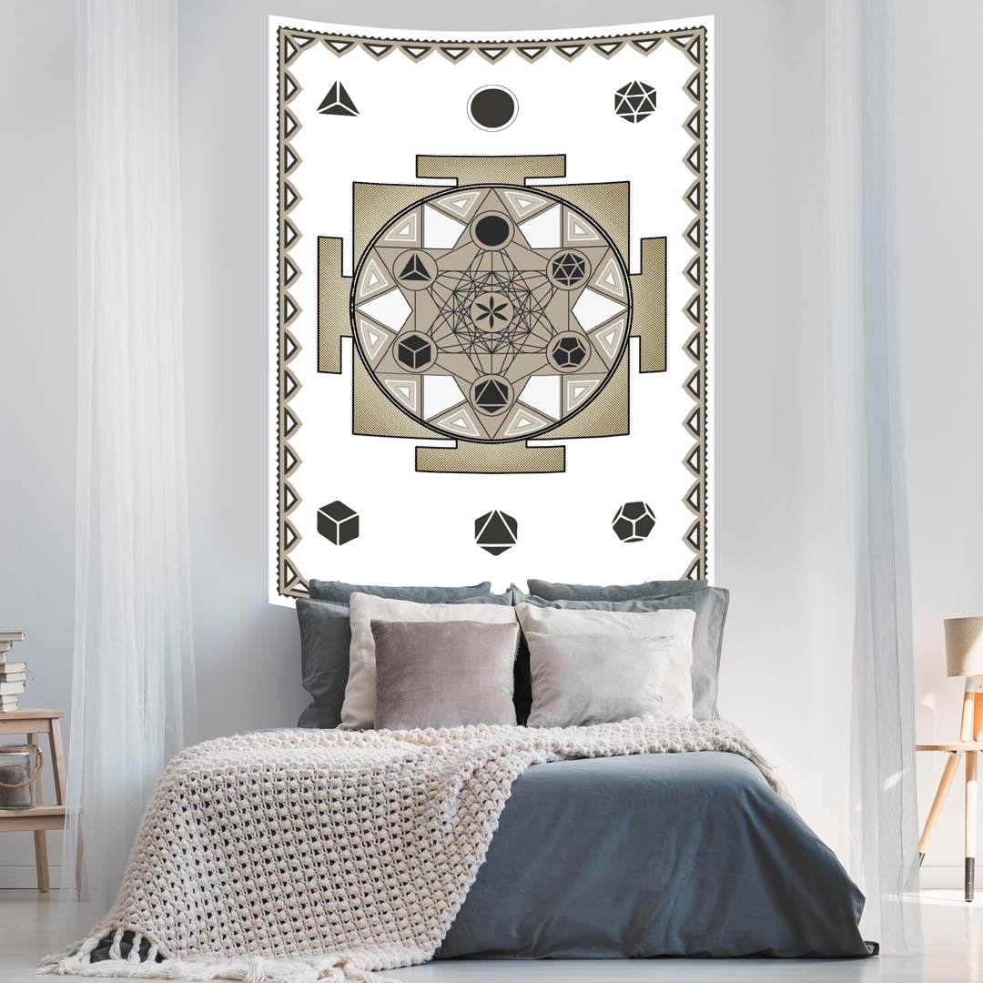 Sacred Geometry Queen Twin Screen Printed Tapestry